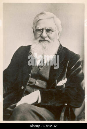 Alfred Russel Wallace (1823-1913) naturalist - Stock Photo
