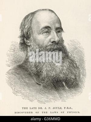 James Prescott Joule (1818-1889) scientist - Stock Photo