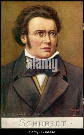 Franz Schubert (1797-1828) Austrian musician - Stock Photo
