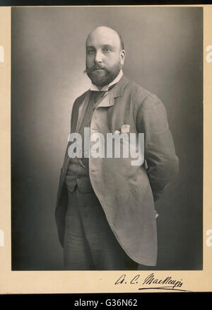 Sir Alexander Campbell Mackenzie (1847-1935), Scottish composer, conductor, violinist and music teacher.  He wrote - Stock Photo