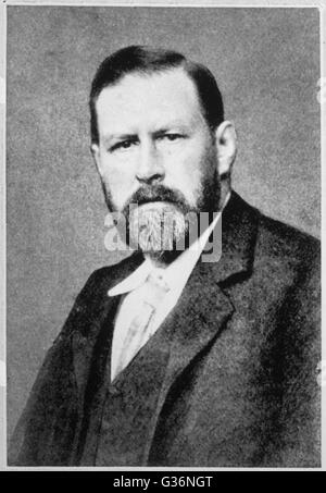 Bram Stoker, novelist and short story writer, best known for the gothic novel Dracula (1897).  He was also theatre - Stock Photo