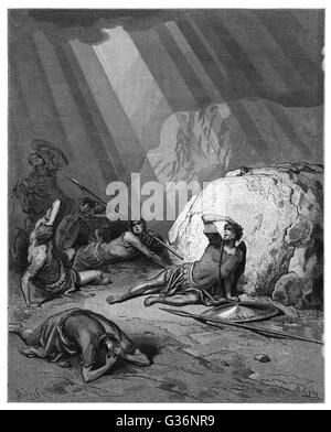 Conversion of St Paul (circa 5 - circa 67)on the road to Damascus, as described in the Acts of the Apostles.    - Stock Photo