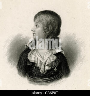 Louis XVII, titular King of France (1793-1795), son of Louis XVI.   Imprisoned during the French Revolution from - Stock Photo