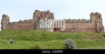 Tantallon Castle.North Berwick, in East Lothian, Scotland - Stock Photo