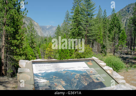 Scenic view from Highway 180 into Kings Canyon National Park - Stock Photo