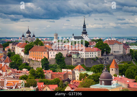 Tallinn. Aerial image of Old Town Tallinn in Estonia. - Stock Photo