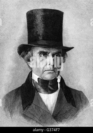 DANIEL WEBSTER American lawyer and statesman         Date: 1782-1852 - Stock Photo