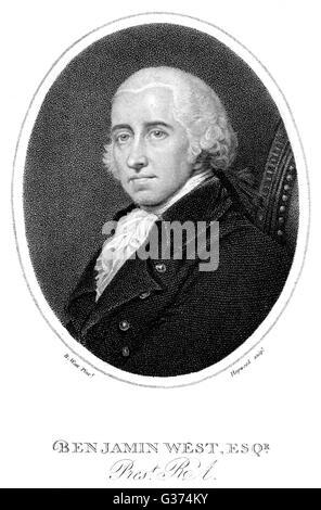 BENJAMIN WEST American artist         Date: 1738 - 1820 - Stock Photo
