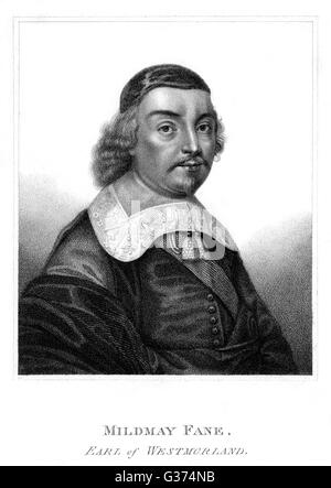 MILDMAY FANE, second earl of  WESTMORLAND statesman and writer        Date: ? - 1666?