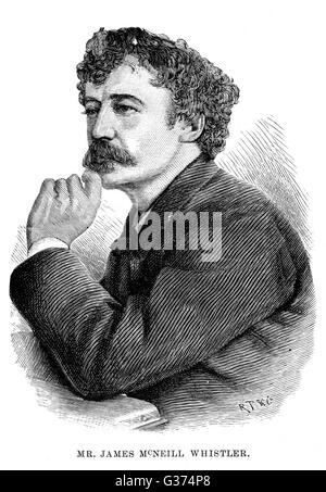 JAMES McNEILL WHISTLER American artist         Date: 1834 - 1903 - Stock Photo