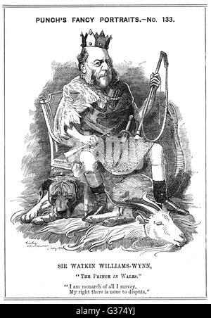 Sir WATKIN WILLIAMS-WYNN Welsh landowner and statesman         Date: 1820 - 1885 - Stock Photo