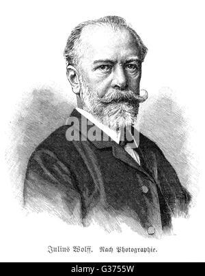 JULIUS WOLFF German writer         Date: 1834 - 1910 - Stock Photo