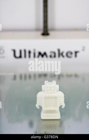 3D printer Ultimaker brand making model England - Stock Photo