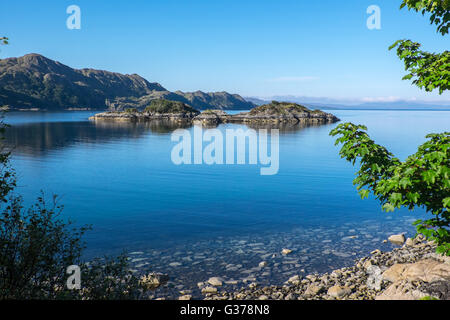 Loch Nan Uamh on the west coast of Scotland, south of Arisaig - Stock Photo