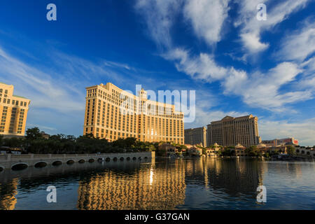 AUG 5, Las Vegas: The famous Bellagio Hotel and Casino on AUG 5, 2015 at Las Vegas, Nevada - Stock Photo