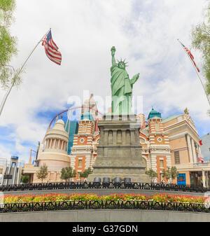AUG 5, Las Vegas: The famous New York New York Hotel & Casino on AUG 5, 2015 at Las Vegas, Nevada - Stock Photo