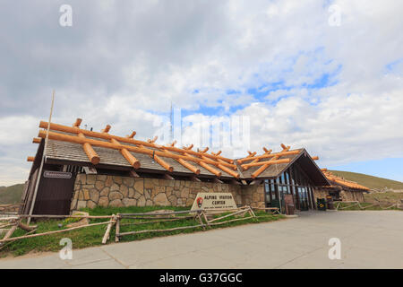 Colorado, AUG 13: Alpine Visitors Center on AUG 13, 2014 at Colorado - Stock Photo