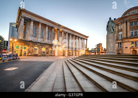 Birmingham Town Hall is situated in Victoria Square, Birmingham, England. - Stock Photo