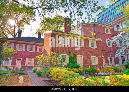Pemberton House and Military Museum at New Hall at Chestnut Street in Philadelphia, Pennsylvania, the USA. They - Stock Photo