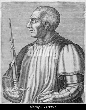 BERTRAND DU GUESCLIN  Constable of France        Date: 1320 - 1380 - Stock Photo