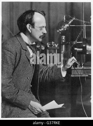 JOSEPH JOHN THOMSON  physicist, working at the  Cavendish Laboratory,  Cambridge, circa 1904      Date: 1856 - 1940 - Stock Photo
