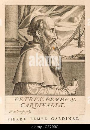PIETRO BEMBO  Italian prelate and scholar        Date: 1470 - 1547 - Stock Photo