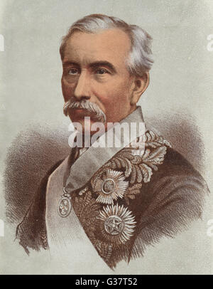 SIR HENRY BARTLE FRERE -  British colonial administrator  in India and Africa.       Date: 1815 - 1884 - Stock Photo