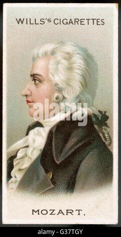 WOLFGANG AMADEUS MOZART  Austrian  composer        Date: 1756 - 1791 - Stock Photo