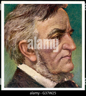 WILHELM RICHARD WAGNER  German composer        Date: 1813-1883 - Stock Photo