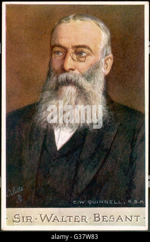 SIR WALTER BESANT  English novelist        Date: 1836 - 1901 - Stock Photo