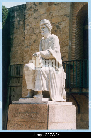 IBN RUSHD Known in the West as Averroes  Spanish/Islamic philospher       Date: 1126 - 1198 - Stock Photo