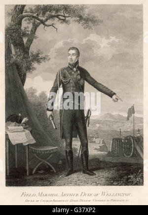 Field Marshall Arthur Wellesley, 1st Duke of Wellington, (1769-1852), British general and statesman, known as the - Stock Photo