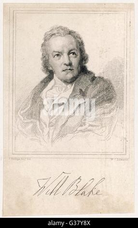 William Blake(1757-1827), English artist, poet and mystic. - Stock Photo