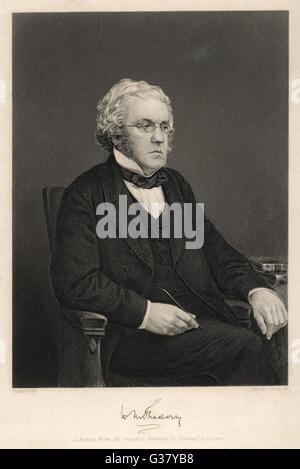 William Makepeace Thackeray(1811-1863), English novelist. - Stock Photo