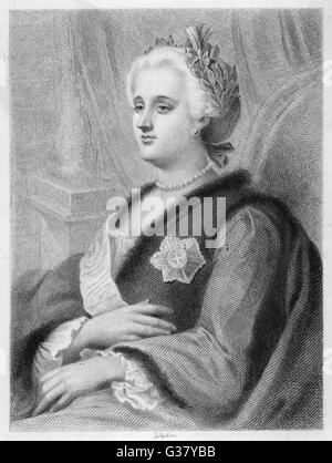Catherine the Great(1729-1796), Empress of Russia, 1762-96. - Stock Photo