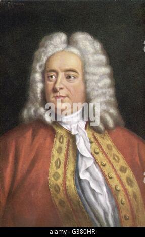 GEORGE FREDERIC HANDEL (1685 - 1759) Composer. - Stock Photo