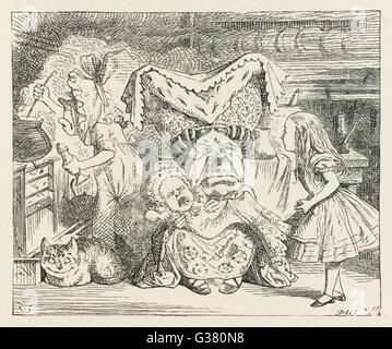 DUCHESS  In the Duchess's kitchen       Date: First published: 1865 - Stock Photo