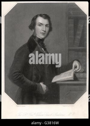 WILLIAM EWART GLADSTONE (1809 - 1898)  British statesman.        Date: C.1835 - Stock Photo