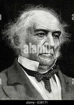 WILLIAM EWART GLADSTONE  British statesman.        Date: 1809 - 1898 - Stock Photo