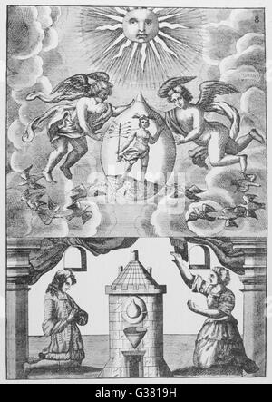 MUTUS LIBER ('The Silent Book')  The Philosopher's Mercury 8 of 15      Date: 1702 - Stock Photo