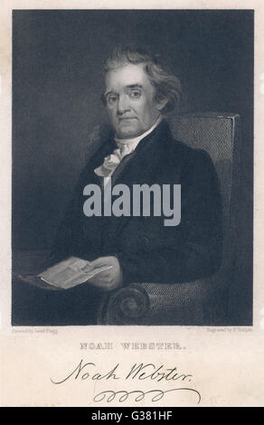 NOAH WEBSTER  American lexicographer and  author       Date: 1758 - 1843 - Stock Photo