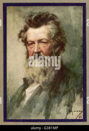 WILLIAM MORRIS  English poet and artist        Date: 1834 - 1896 - Stock Photo