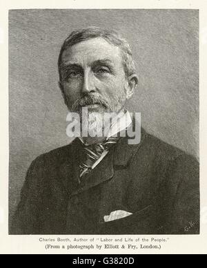 CHARLES BOOTH  English shipowner and  sociological writer       Date: 1840 - 1916 - Stock Photo
