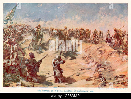 OMDURMAN The charge of the 21st Lancers         Date: 2 September 1898 - Stock Photo