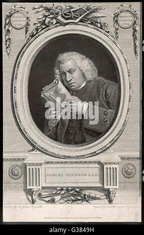 DR SAMUEL JOHNSON  Writer        Date: 1709-1784 - Stock Photo