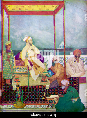 SHAH JAHAN I Mughal emperor of India from  1628 to 1658, known in his  youth as Prince Khurram.  He  had the Taj - Stock Photo