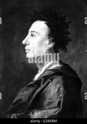 ALEXANDER POPE  English poet and essayist        Date: 1688 - 1744 - Stock Photo