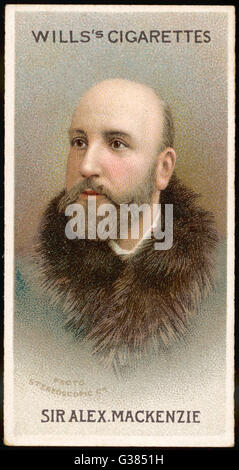 SIR ALEXANDER CAMPBELL  MACKENZIE  Scottish composer, violinist and music teacher      Date: 1847 - 1935 - Stock Photo