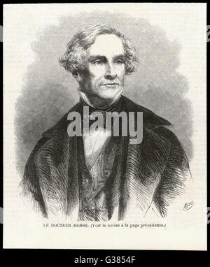 SAMUEL MORSE  American artist and inventor.        Date: 1791 - 1872 - Stock Photo
