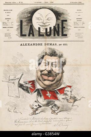 ALEXANDRE DUMAS (PERE)  French writer        Date: 1802 - 1870 - Stock Photo
